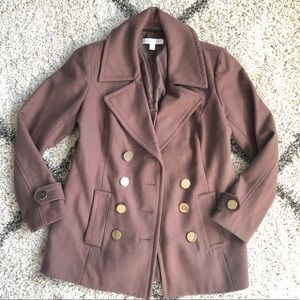 🍁5/$30🍁 NY&CO Brown Pea Coat. Size M